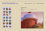 Carl Forslund Artist Website