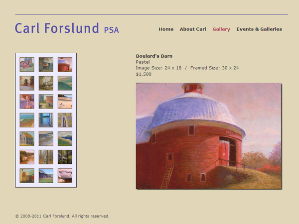 Carl Forslund Website